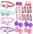 40 Piece Hair Accessories Set For Girls - Headbands, Hair Clips, Hair Bands, Ribbon Bows, Slides, Barretts - Makes An Ideal Gift For Teens Baby Babies Toddlers.
