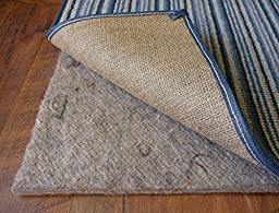 100% Wool Rug Pad; for Rug Size 3\' x 5\'; 36 oz. All Natural Eco Friendly Rug Pad