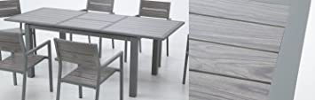 Mesa extensible aluminio lamas Suez 150-210x95