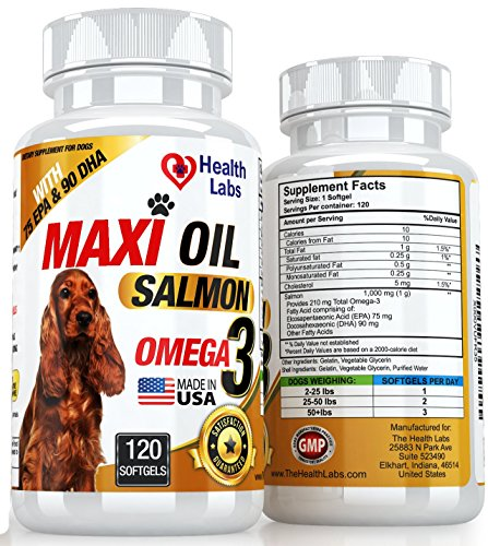 Salmon Fish Oil Omega 3 For Dogs Cats 120 Capsules