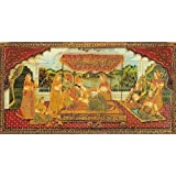 "Dolls Of India ""King With His Beloved And Attending Maids"" Reprint On Paper - Unframed (101.60 X 50.80 Centimeters..."