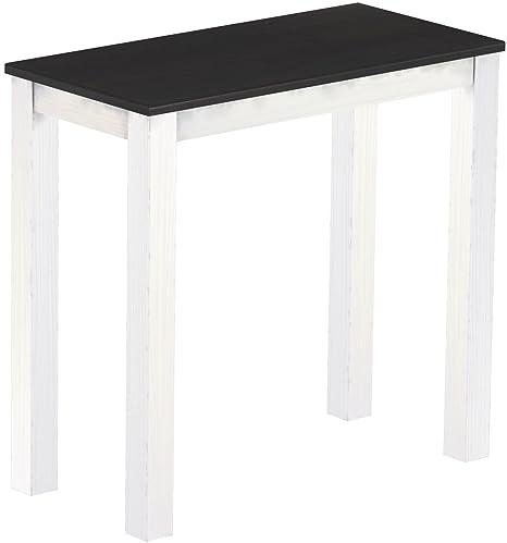 Brasil High Table 'Rio' 115x 56cm Solid Pine Wood, Ebony-White Shade