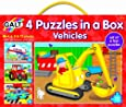 Galt Toys Puzzles in a Box Vehicle - Pack of 4