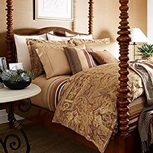 king bellosguardo paisley duvet cover 110 x 96 brown pattern size king home. Black Bedroom Furniture Sets. Home Design Ideas