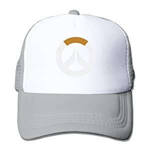 Trucker Overwatch Flag Symbol Adjustable Mesh Back Baseball Cap Ash