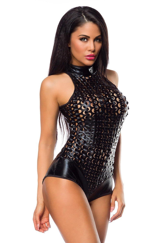Damen GoGo Reizwäsche Wetlook Metallic Body / Teddy günstig online kaufen