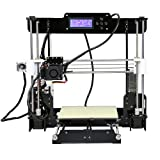 Anet A8 Upgraded High Precision Desktop 3D Printer Reprap i3 DIY Kits Self Assembly Auto Self-leveling Acrylic Frame Printing Size 220220240mm with 8GB Memory Card