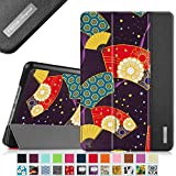 Fintie iPad mini 4 Case - Ultra Slim Lightweight Stand Smart Cover with Auto Sleep/Wake Feature for Apple iPad mini 4 (2015 Release), ZV-Floral Fan Purple