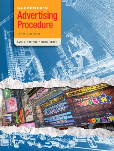 Kleppner's Advertising Procedure (18th Edition)