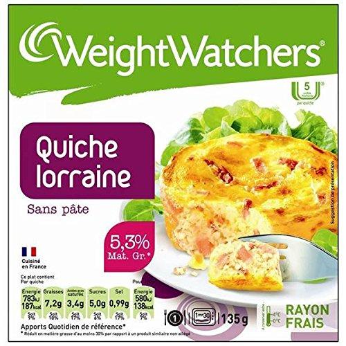 Weight Watchers - Marie Quiche Lorraine au fromage frais sans pâte - 135g