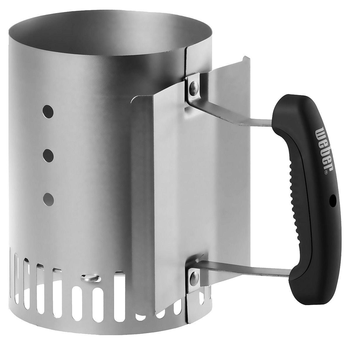 New weber 7447 compact rapidfire chimney starter ebay for Cheminee exterieur weber