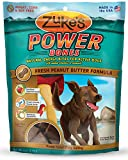 Zukes Power Bones Natural Energy Bites for Active Dogs, Fresh Peanut Butter Formula, 6-Ounce
