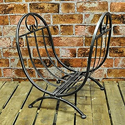 Metal Log Holder Basket for Fireplace