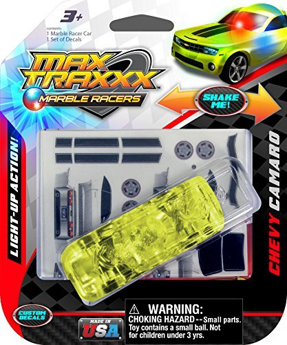 Max Traxxx Chevy Camaro SS Light Up Marble Racer Car