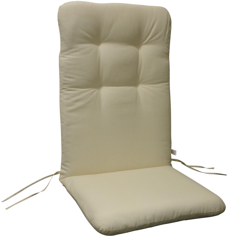 indoba® IND-70403-AUHL-6 - Serie Relax - Gartenstuhl Auflagen - Hochlehner, Beige - 6 Stück