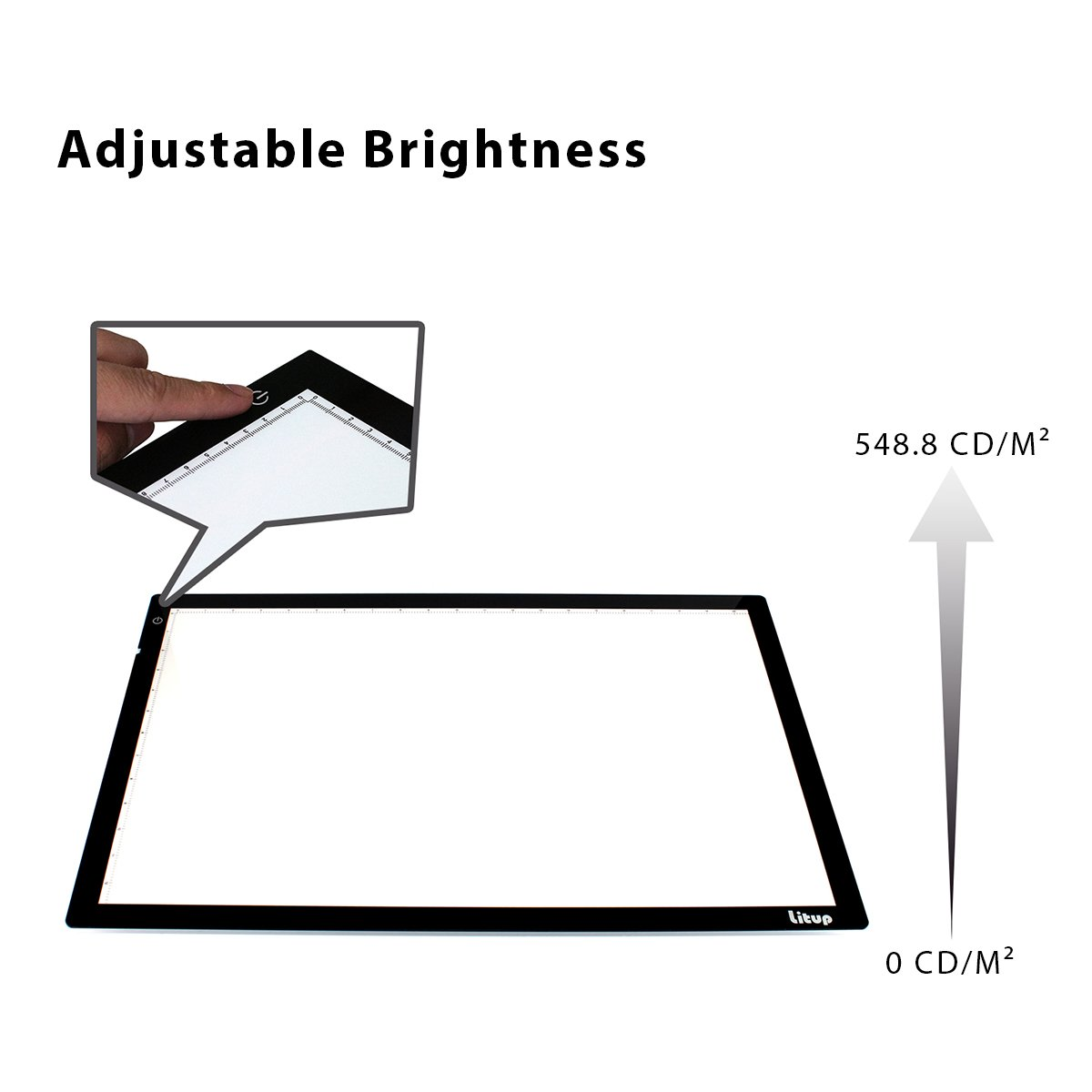 Light Box Light Pad, Litup 22.44-by-14.68 Inch Tracing Light Box Drawing Light Board for Animation, Sketching, Artcraft, Tattoo Transferring- LP2