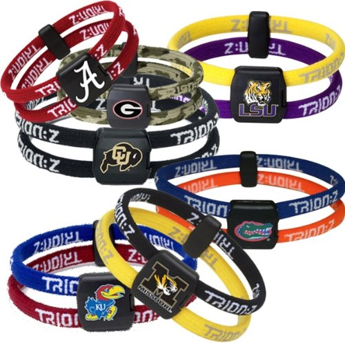 Trion:Z College Series Bracelet - Wake Forest Black/Black - Small (6.3