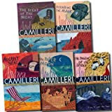 Andrea Camilleri The Inspector Montalbano Collection Andrea Camilleri 5 Books Set (Volume 6 To 10) (The Scent of the Night, Rounding the Mark, The Patience of the Spider, The Paper Moon, August Heat)