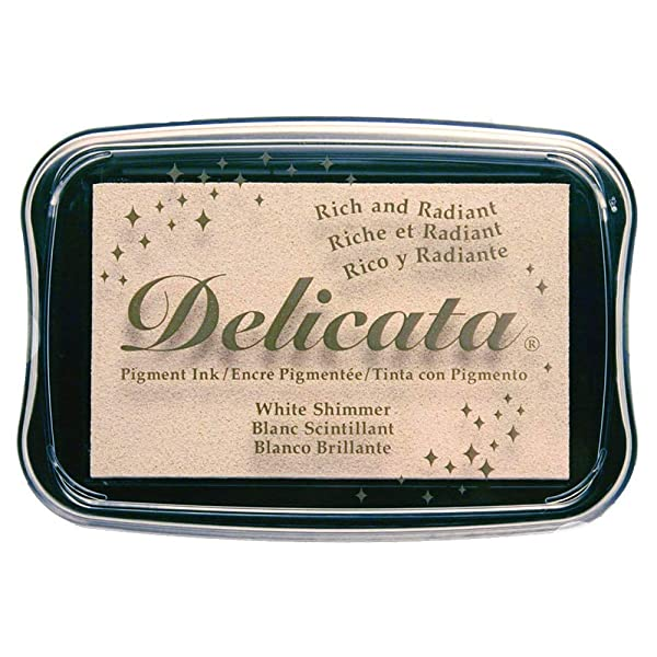 Delicata White Shimmer Metallic Pigment Inkpad (New Version) (Tamaño: New Version)