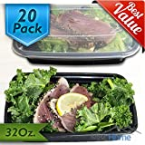 +Best Deal+[20 Pack] 32 Oz. Meal Prep Containers BPA Free Plastic Reusable Food Storage Container Microwave & Dishwasher Safe w/ Airtight Lid For Portion Control & Bento Box Lunch Box Food Prep