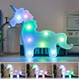 WHATOOK Rainbow Unicornio Light LED Decorative Night Light Wall Kids Unicorn Toys Decoration for Living Room,Bedroom,Home, Christmas (Battery Operated) (Colorful Unicorn Body) (Color: Colorful Unicorn Body)
