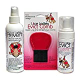 Lice Ladies Lice Treatment Combo - EVICT, PREVENT and Lice Ladies EVICT Comb, total natural safe lice removal 3 combo pack