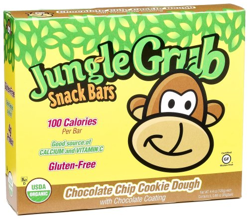 Jungle Grub Snack BarsChocolate Chip Cookie Dough Snack Bars, 5-Count, 4.4 Ounce Boxes (Pack of 6)