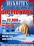 img - for Beckwith's Poor Spellers Dictionary book / textbook / text book