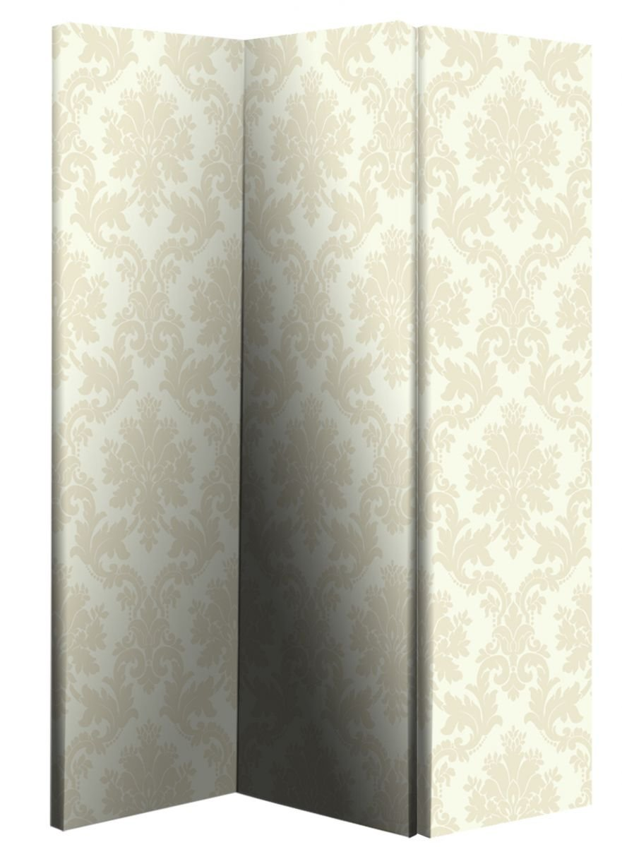 Arthouse Room Divider Screen 3 Panels 2 Fold Ivory and Cream Damask 150cm x 120cm x 2.5cm (008140)       reviews