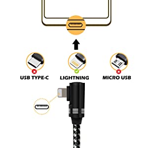 Boost Phone Charger, 3-Pack Right Angle Fast Charger Nylon Braided USB Wire Data Charge Sync Cable Game Line Charging Cord Compatible with Cell Phone Xs XR 8 Plus 7 7Plus 6s 6 6Plus Tablet/Pod