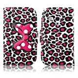 Fashion Youth Series Cute Design Bow Bowknot Leopard Print Wallet Flip Case Folio PU Leather Stand Cover with Card Slots for Samsung Galaxy S3 Mini i8190 + Free Lovely Gift