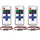 FAVOLCANO (3 Pack) Mini LED Controller Dimmer with 11 Key RF Wireless Remote Control DC 5~24V 12A for Single Color 3528 5050 LED Strip Lights (Color: Mixed color, Tamaño: R107)