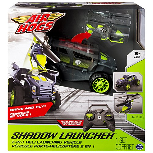 Air Hogs 6026326 Gioco SHADOW LAUNCHER Elicottero Jeep RADIO COMANDATO RC Spin Master