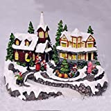 Animated Christmas Village Scene. Fibre Optic LED Lights & Sounds. Low Voltage.