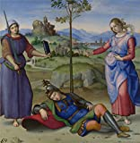 'Raphael An Allegory (Vision Of A Knight) ' Oil Painting, 16 X 16 Inch / 41 X 42 Cm ,printed On Perfect Effect Canvas ,this Reproductions Art Decorative Canvas Prints Is Perfectly Suitalbe For Laundry Room Artwork And Home Decoration And Gifts