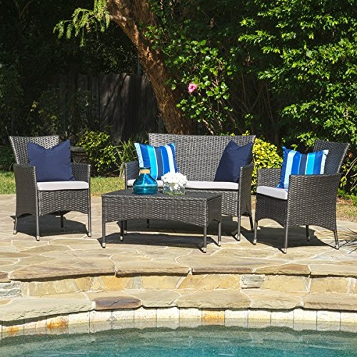 Premium-Rattan-Garden-Patio-Conservatory-Furniture-Set-4-Piece-Chairs-Sofa-Table-IndoorOutdoor-Black