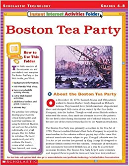 instant internet activities folder boston tea party terry cooper 9780439309516 books. Black Bedroom Furniture Sets. Home Design Ideas