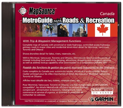 Garmin Roads and Recreation Canada Map CD-ROM (Windows)