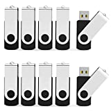 Aiibe 32 GB Flash Drive USB 3.0 USB Flash Drives 10 Pack Thumb Drive USB Stick Jump Drive 32GB 3.0 - Black (Color: Black, Tamaño: USB 3.0 32GB)
