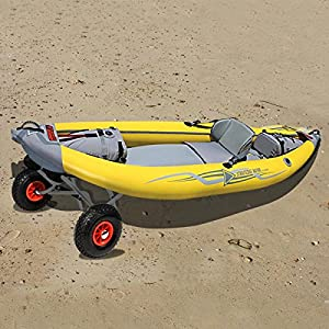 Kayak Jon Boat Canoe Gear Dolly Cart Trailer Carrier Trolley Wheels
