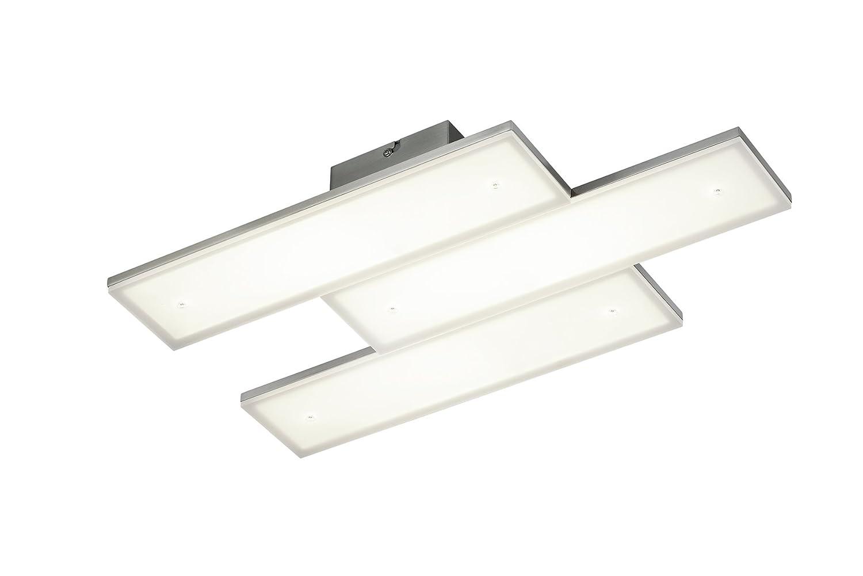 Trio Leuchten LED-Deckenleuchte Denver in nickel matt, Schirm Acryl weiß 679612807
