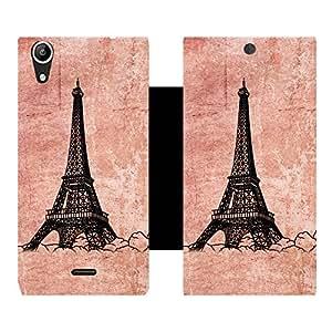 Skintice Premium Flip Cover with a Designer hi-res printed Vinyl Wrap-around forMicromax Canvas Selfie, Design - Eiffel tower