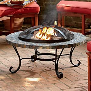 slate fire pit improvements outdoor fire pit