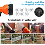 Garden Hose Nozzle,Hand Sprayer water Sprinklers High Pressure Pistol Grip Front Trigger - Flow Control Setting Knob - Suitable for Car Wash, Cleaning, Watering Lawn, Garden Washing Dogs