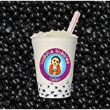 Boba / Black Tapioca Pearls By Buddha Bubbles Boba 1 Pound (16 Ounces) | (453 Grams)