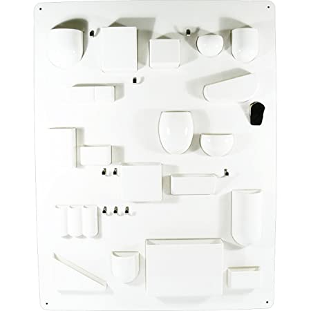 Vitra Uten.Silo I 20129001 Storage Board for Small Items ABS Plastic / Metal Hooks / 870 x 670 x 65 mm White