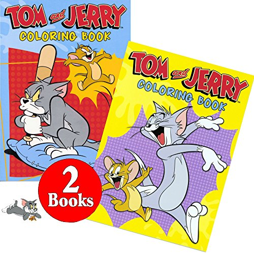 Tom and Jerry Coloring and Activity Book Set (2 Books ~ 96 Pages) - 1