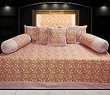 Hargunz Diwan-e-khas Cotton 8 Piece Diwan Set - Green (dwn-ggl-yl)