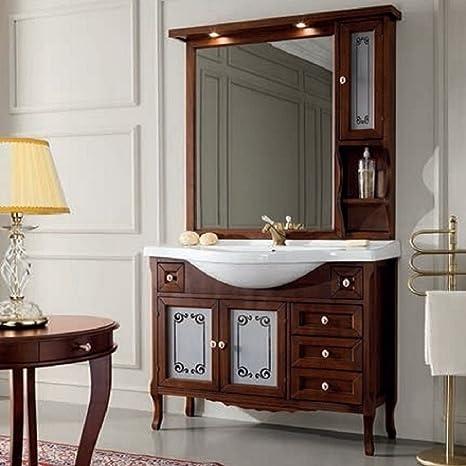 Complet 105ameublement bain classique noyer Elegance Miroir à suspendre