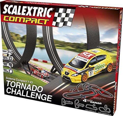 Scalextric - C10167S500 - Compact, Pista Tornado Challenge, scala 1:43